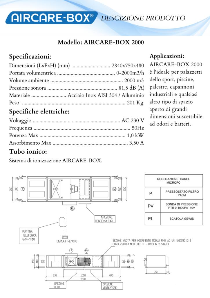 Modello AIRCARE-BOX 2000 italiano